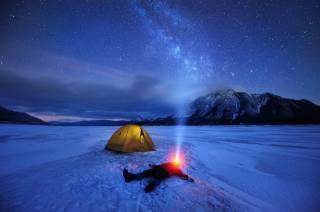 канада, экстрим, отдых, зима, горы, природа, озеро