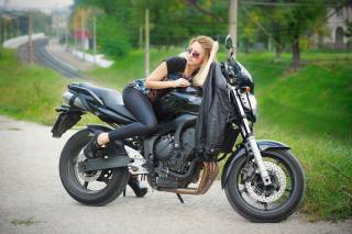 bike, Елена Сергиенко, model, Zaporozhye, motorcycle