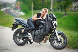 велосипед, Елена Сергиенко, фотомодель, Запорожье, мотоцикл