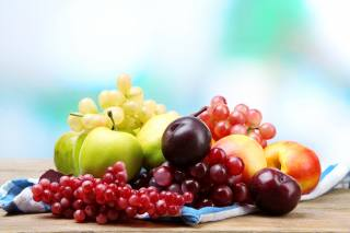 fruit, berries, plum, grapes
