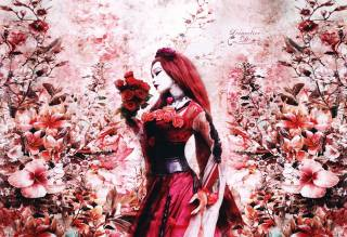 Asian, flowers, rose