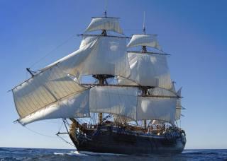 ship, sailing, реплика, sea