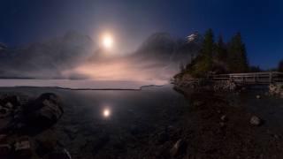солнце, вода, туман, горы