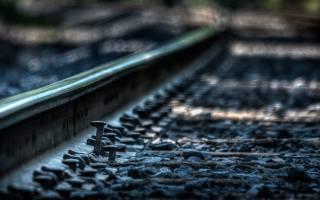 рейки, шлях, макро, залізничний