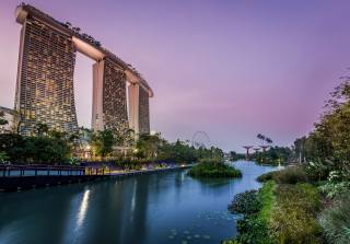 Singapore, the city, building, The hotel, river