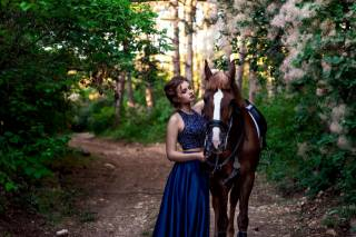 girl, horse, forest, photo, Александра Полякова