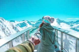 фото, ПАРА, зима, горы