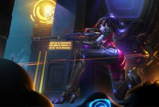 widowmaker, OVERWATCH, игры