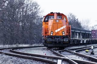 поезд, состав, пути, деревья
