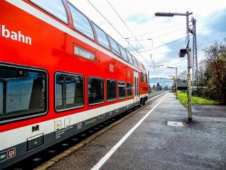 поезд, станция, Германия