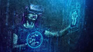 virtual reality, digital art, numbers