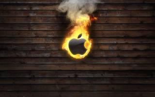Apple, Apple, the dark background