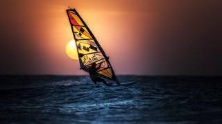 виндсерфинг, спорт, море, солнце