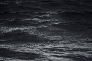 море, волны, монохромный, природа