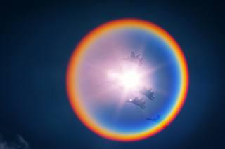 небо, солнце, самолеты