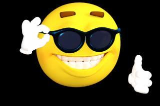 Smajlík, úsměv, brýle, tmavé, pozadí