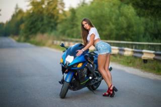 Suzuki, Hayabusa, дівчина, мотоцикл