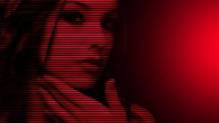 девушка, Красный, фон