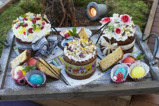Easter, cream, decor, EGGS, cakes