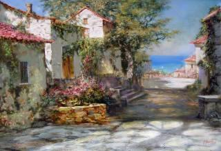 александр милюков, крымский пейзаж, рисованные, Крым, картина