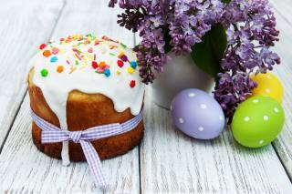 holiday, Easter, Cake, cakes, flowers, lilac, EGGS, eggs