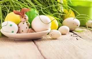 Board, holiday, Easter, plate, EGGS, eggs, grass, figure, hare