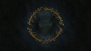 logo, zlato, Толкиен, синдарин, pán prstenů