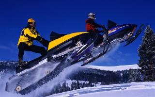 екстрім, відпочинок, зима, гори, сніг, снегоходы, політ