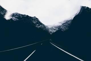 cesta, zima, sníh
