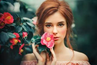 девушка, портрет, фотограф, Ольга Бойко, Olga Boyko, цветы