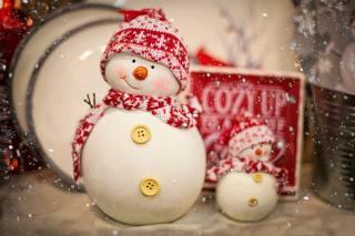 свято, Новий рік, сніг, Іграшки, сніговики