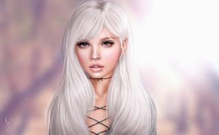 девушка, фон, блондинка, взгляд, волосы, лицо