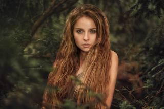 девушка, модель, фотограф, Martin Kuhn, лето, портрет, длинные волосы, взгляд