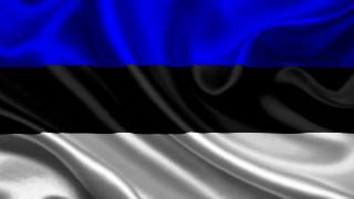 эстония, Флаг, 3d, Эстония, Флаг