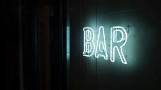 fotografie, Neon, bar, znamení, неоновая вывеска