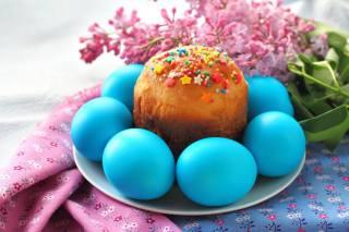 velikonoce, Velikonoce, svátek, větvičky, květiny, lilac, talíř, VEJCE, крашенки, Koláč, tkanina