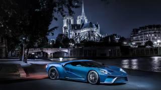 Форд, GT, ночь, город