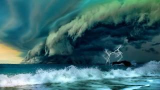 море, шторм, гроза