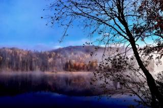 канада, квебек, природа, пейзаж, осень, озеро, лес, дерево