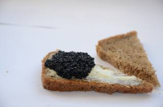 caviar, black, sandwich