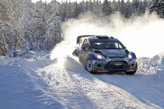 Ford, car, winter, J.M. Latvala, forest, rally, Sport, snow