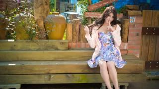 Прекрасная тайваньская девушка, skirt, summer