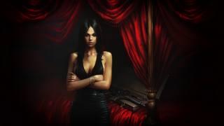 ženy, tmavě, umělecká díla, Černé Šaty