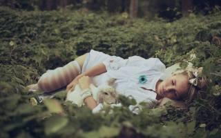 blonde, grass, лежать, sleep, rabbit