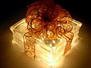 подарунок, світло, бант