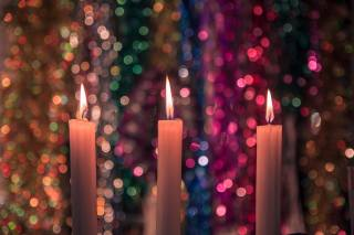candles, lights, bokeh