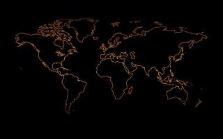 map, earth, the dark background