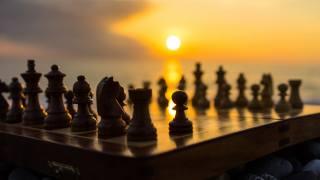 шахматы, галька, пляж, море