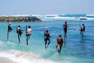 Sri Lanka, чоловіки, рибалка, природа