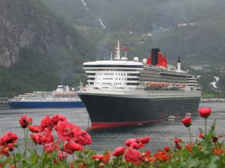 photo, flowers, ships, Liner, Norway